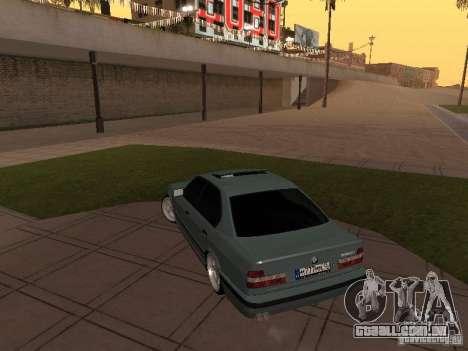 BMW E34 540i V8 para GTA San Andreas vista traseira
