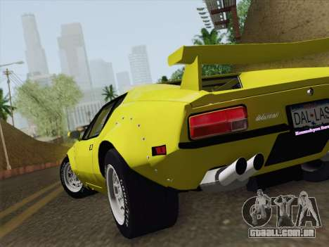 De Tomaso Pantera GT4 para GTA San Andreas vista interior