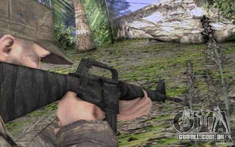 M16A1 Vietnam war para GTA San Andreas por diante tela