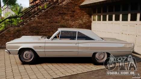 Dodge Coronet 1967 para GTA 4 esquerda vista