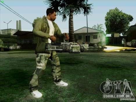 Minigun de Duke Nukem Forever para GTA San Andreas por diante tela