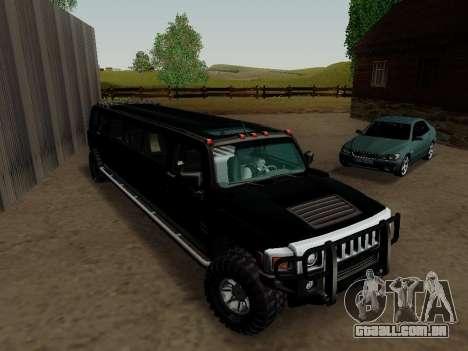 Hummer H3 Limousine para GTA San Andreas vista direita