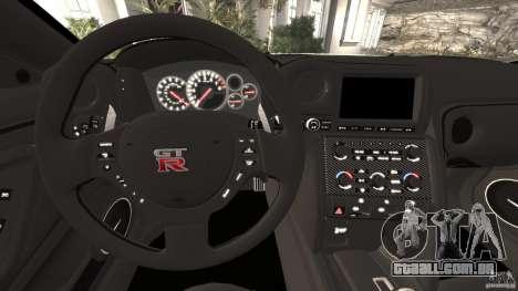 Nissan GT-R 2012 Black Edition para GTA 4 rodas