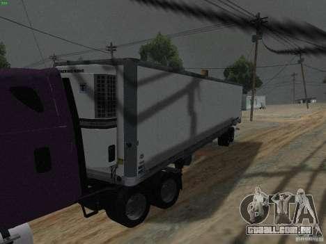 O reboque para a Freightliner Cascadia para GTA San Andreas esquerda vista