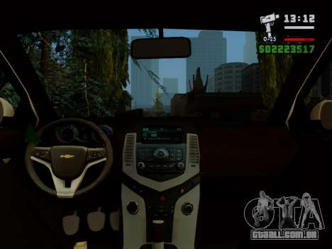 Chevrolet Cruze para vista lateral GTA San Andreas
