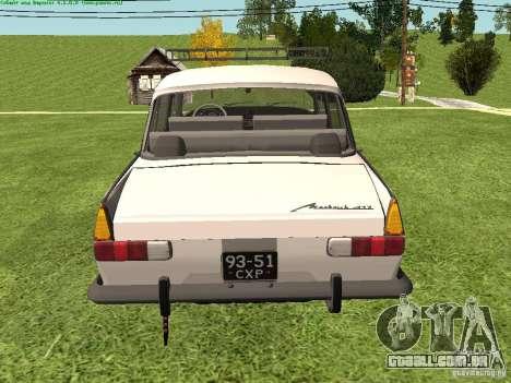 AZLK 412 para GTA San Andreas vista direita
