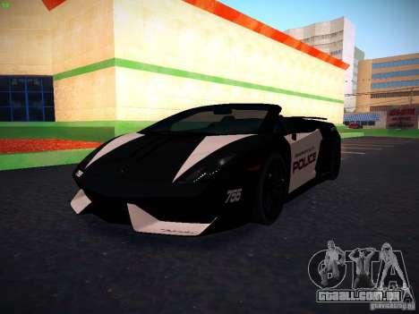 Lamborghini Gallardo LP570-4 Spyder Performante para GTA San Andreas vista interior