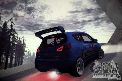 Mitsubishi Colt Rallyart Carbon 2010 para GTA San Andreas vista traseira