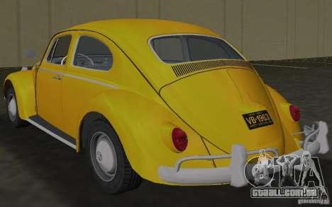 Volkswagen Beetle 1963 para GTA Vice City vista direita