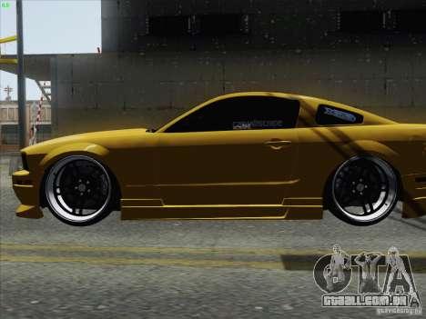 Ford Mustang GT Lowlife para GTA San Andreas traseira esquerda vista