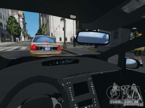 Toyota Prius EKO TAXI (Hrvatski taxi) para GTA 4 vista de volta
