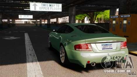 Aston Martin Vanquish 2001 para GTA 4 traseira esquerda vista