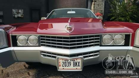Cadillac Eldorado 1968 para GTA 4 rodas