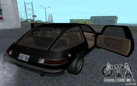 AMC Pacer para GTA San Andreas vista traseira