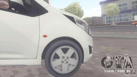 Chevrolet Spark 2011 para GTA San Andreas vista direita