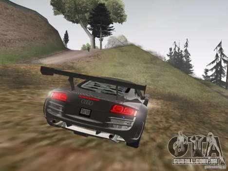 Audi R8 LMS v3.0 para GTA San Andreas vista traseira