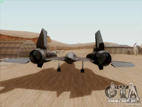 YF-12A para GTA San Andreas vista direita