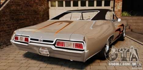 Chevrolet Impala 427 SS 1967 para GTA 4 traseira esquerda vista