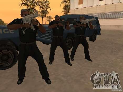 M4A1 from Left 4 Dead 2 para GTA San Andreas sexta tela