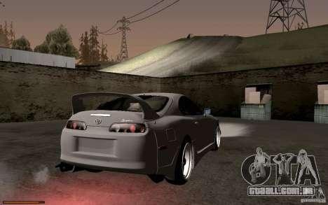 Toyota Supra D1 1998 para GTA San Andreas vista traseira