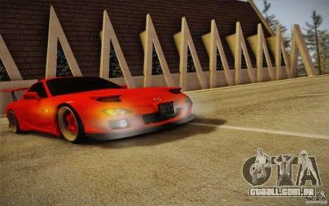 Mazda RX7 Hellalush V.2 para GTA San Andreas vista direita