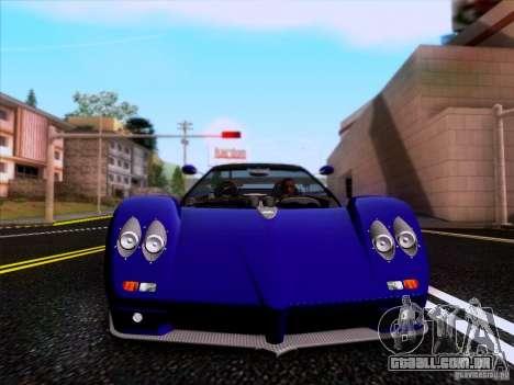 Pagani Zonda C12S Roadster para GTA San Andreas vista interior
