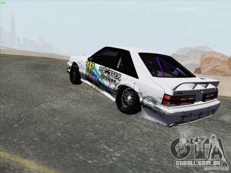 Ford Mustang Drift para GTA San Andreas traseira esquerda vista