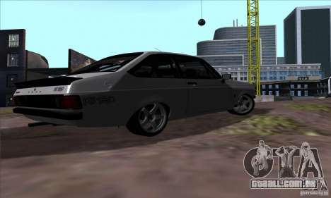 Ford Escort RS 1600 para GTA San Andreas vista traseira