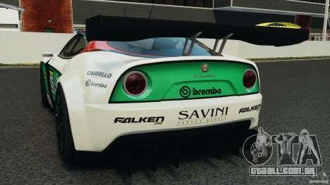 Alfa Romeo 8C Competizione Body Kit 1 para GTA 4 traseira esquerda vista