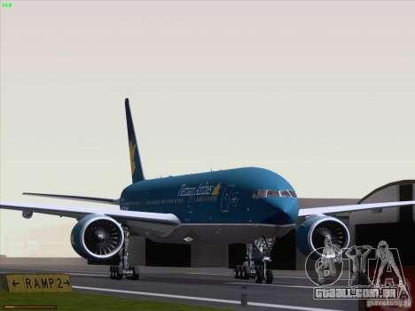 Boeing 777-2Q8ER Vietnam Airlines para GTA San Andreas esquerda vista