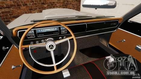 Dodge Coronet 1967 para GTA 4 vista de volta