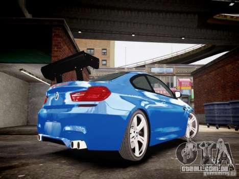 BMW M6 2013 para GTA 4 traseira esquerda vista