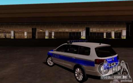 Volkswagen Passat B6 Variant Polizei para GTA San Andreas traseira esquerda vista