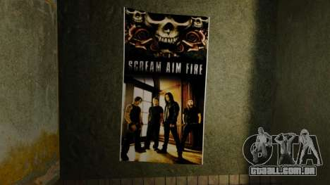 Novos posters no primeiro apartamento para GTA 4 sexto tela