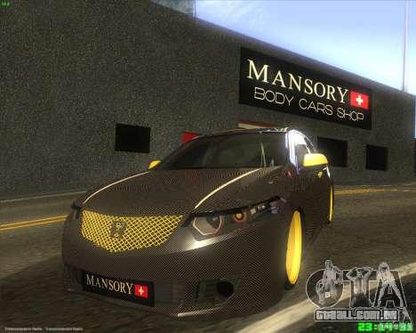Honda Accord Mansory para GTA San Andreas