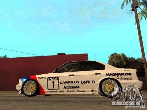 BMW E34 M5 - DTM para GTA San Andreas esquerda vista