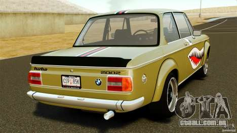 BMW 2002 Turbo 1973 para GTA 4 traseira esquerda vista
