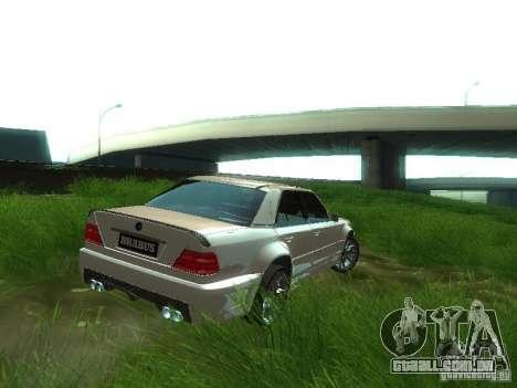 Mercedes-Benz W124 BRABUS para GTA San Andreas traseira esquerda vista