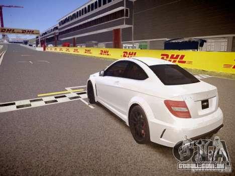 Mercedes-Benz C63 AMG Stock Wheel v1.1 para GTA 4 traseira esquerda vista