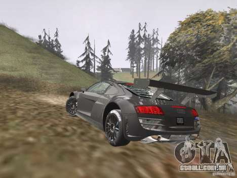 Audi R8 LMS v3.0 para GTA San Andreas esquerda vista