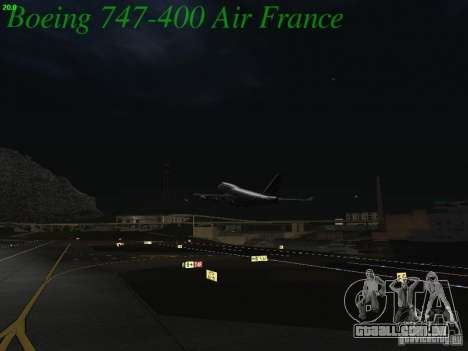Boeing 747-400 Air France para GTA San Andreas vista superior