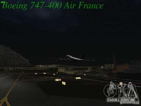 Boeing 747-400 Air France para GTA San Andreas vista superior