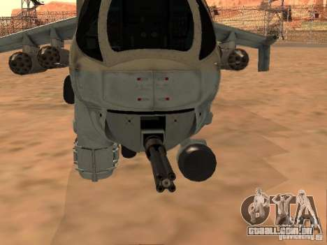 Mi-24 p para GTA San Andreas vista superior