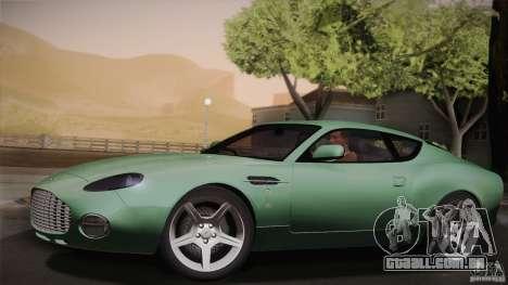 Aston Martin DB7 Zagato 2003 para GTA San Andreas vista inferior