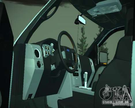 Ford F-150 EXT para GTA San Andreas vista interior