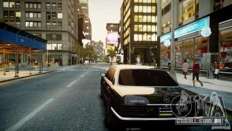 Mercedes-Benz 560 SEL Black Edition para GTA 4 vista de volta