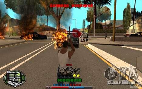 Cleo HUD by Cameron Rosewood V1.0 para GTA San Andreas sexta tela