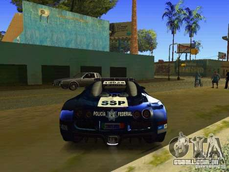 Bugatti Veyron Federal Police para GTA San Andreas vista direita