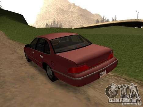 Ford Crown Victoria LX 1994 para GTA San Andreas traseira esquerda vista
