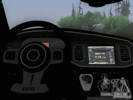 Dodge Charger 2012 Police para GTA San Andreas interior